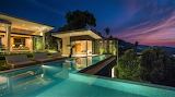 Beautiful tropical mansion and pool