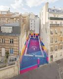 Colourful Paris basketball court