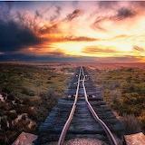 Abandoned Oodnadatta rail road Track South Australia