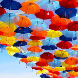 *  Colorful Umbrellas...