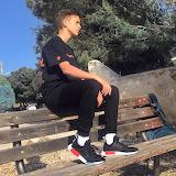 boy in sneakers