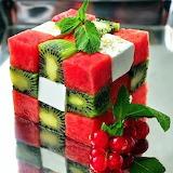 Кубик Рубика из фруктов