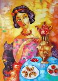 Golden samovar by Anna Wach