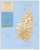 Saint-Lucia Kaart