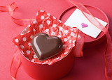 Box, chocolate heart, red, Valentine