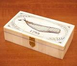 Nantucket Scrimshaw Carved Bone Box