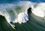 Surfing a good sized wave