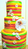 Colorful cake @ Karen Anne Cakes