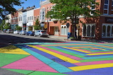 Downtown Mt. Pleasant - Painted Intersection
