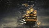 Ship fantasy ocean