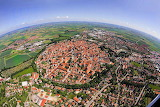 Nordlingen Built in Meteor Impact Crater Germany