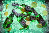 Rotate Beer Bottles on Ice