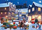 village winter square