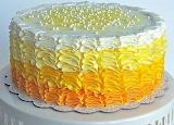 Ombre ruffle cake @ Delish