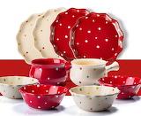 ^ Ezicok polka dot dinnerware