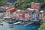 Fishing village on the coast in Liguria