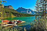 Emerald Yoho Lake and Mountains Canada