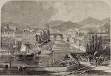 Grabado de P. Skelton. Bilbao a mediados del XIX