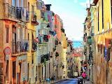 steep street in Lisbon