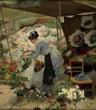 The Flower Stall ~ Victor Gilbert