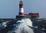 Lighthouse rough surf