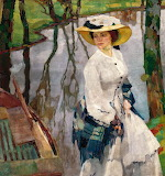 Leo Putz, On the River Bank, 1909