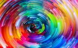 Rainbow pattern swirl