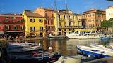 Malcesine harbour, Veneto, Italy