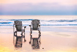 Rocking chairs on the beach