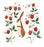 Art tumblr littelg bunny strawberry