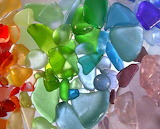 Rainbow sea glass