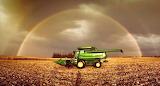 Puzzle farm sunset