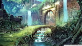 Castle path painting-wallpaper