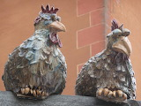 Ceramic chickens wall 1305277