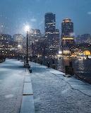 Boston during snow storm
