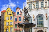 Neptune Fountain in Gdańsk, Poland