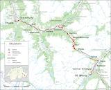 Albulaspoorlijn Kaart