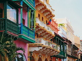 Pretty Balconies in Colombia