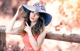 Girl, hat, nature