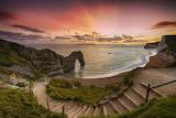 Durdle door sunset Dorest England
