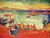 Derain, Bateaux dans le port de Collioure, 1905