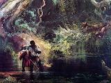 JLM-1863-Thomas Moran-Slaves Escaping Through the Swamp