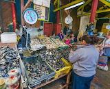 Chile, Castro, seafood market