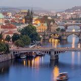 Charles Bridge in Prague, Czech Republic...