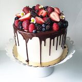 ^ Berry drip cake