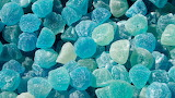 Blue gum drops candy