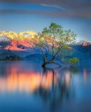 Sherbet coloured landscape