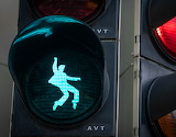 Elvis Presley traffic lights in Friedberg, Germany