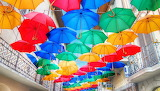 Colorful umbrellas-Umbrella decorations-Colorful umbrellas-Sony