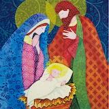 ^ Christmas - Mary Joseph and Baby Jesus